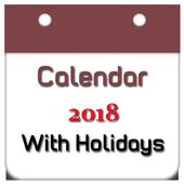 Calendar 2018 New icon