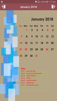 Calendar 2018 New apk screenshot