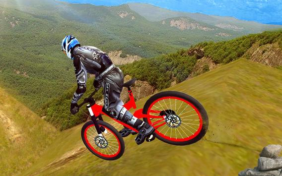 mountain biking crazy stunts poster