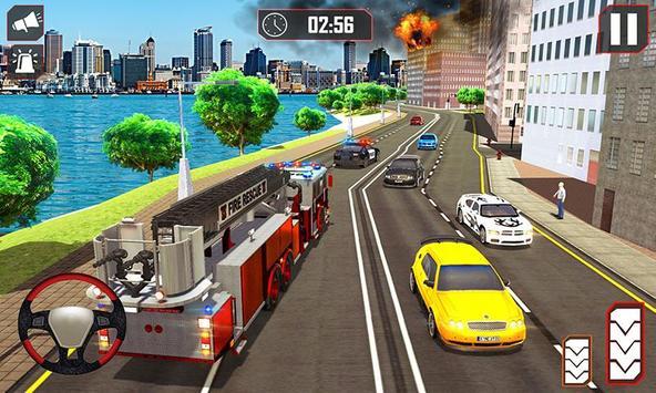 Fire Truck Driving poster
