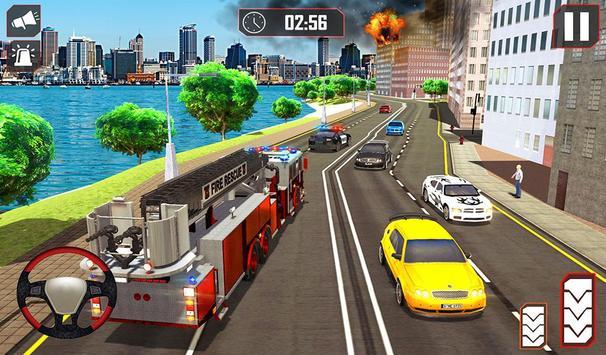 Fire Truck Driving screenshot 10