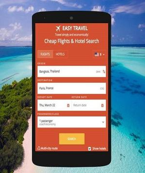 Cheap Flights booking poster