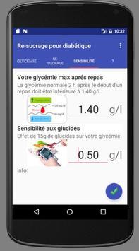 Re-sucrage diabétique apk screenshot