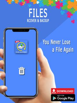 Recover all deleted photos; Files, pictures poster