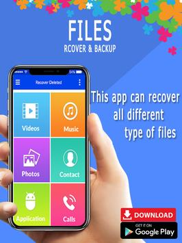 Recover all deleted photos; Files, pictures screenshot 1
