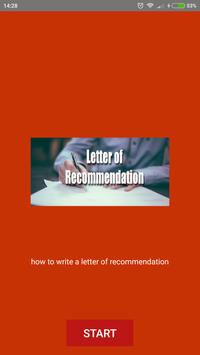 Letter of Recommendation Sample poster