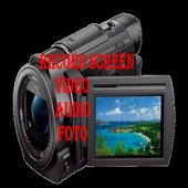 Record Screen Video Audio Foto PRO icon