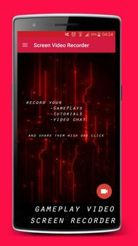 record video phone screen poster