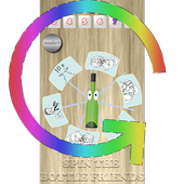 Spin the bottle friends icon