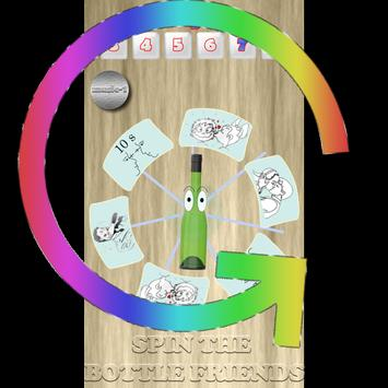 Spin the bottle friends poster