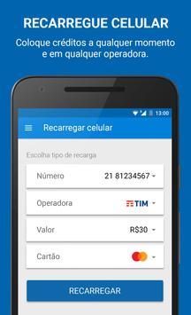 Recarga Celular, Bilhete Único e Pagamentos apk screenshot