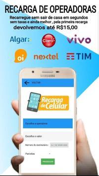 Recarga celular , pagamentos de conta e gift card screenshot 2