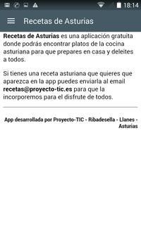 Recetas de Asturias apk screenshot