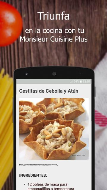 Recetas Monsieur Cuisine Plus For Android Apk Download