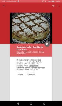 Recetas Comida Marroquí apk screenshot