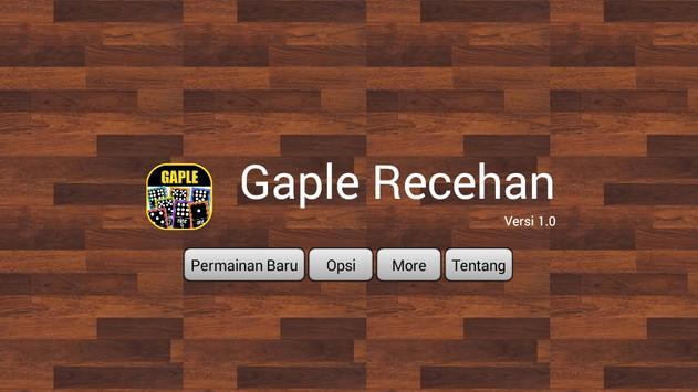 Gaple Recehan poster