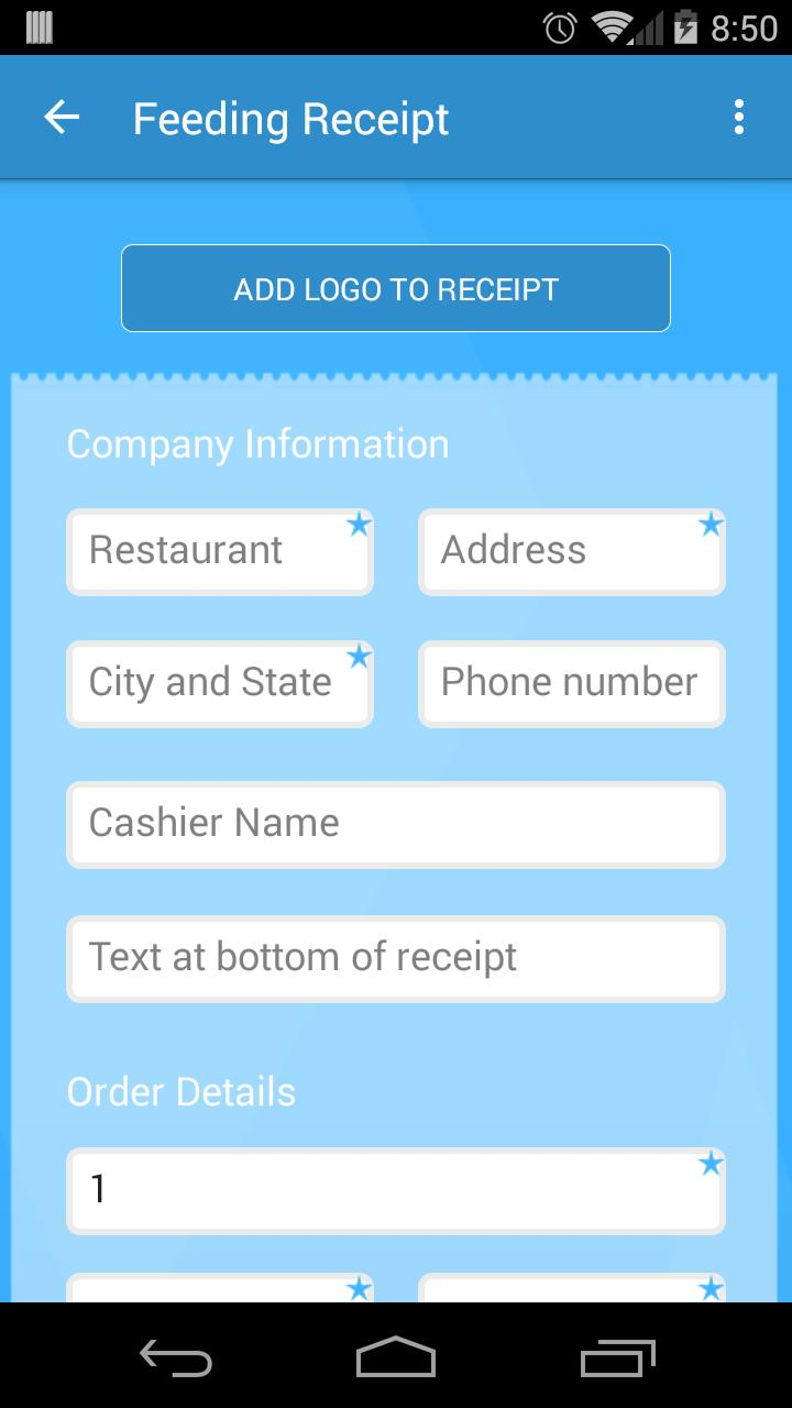 Receiptish - Receipt Generator for Android - APK Download