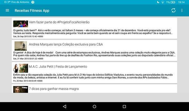 Receitas Fitness App apk screenshot