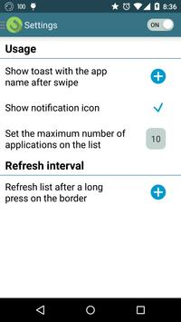 Swipe Recent Apps screenshot 1