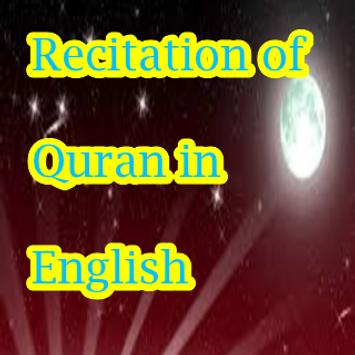 Recitation of Quran in English poster