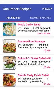 Cucumber Recipes:free recipe app screenshot 4
