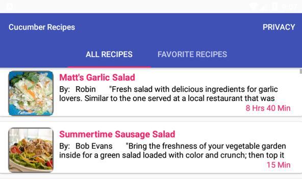 Cucumber Recipes:free recipe app screenshot 5