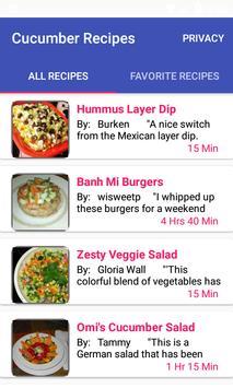 Cucumber Recipes:free recipe app poster