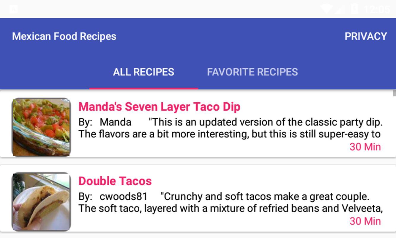 Mexican food recipesfree recipe app descarga apk gratis comer y mexican food recipesfree recipe app captura de pantalla de la apk forumfinder Gallery