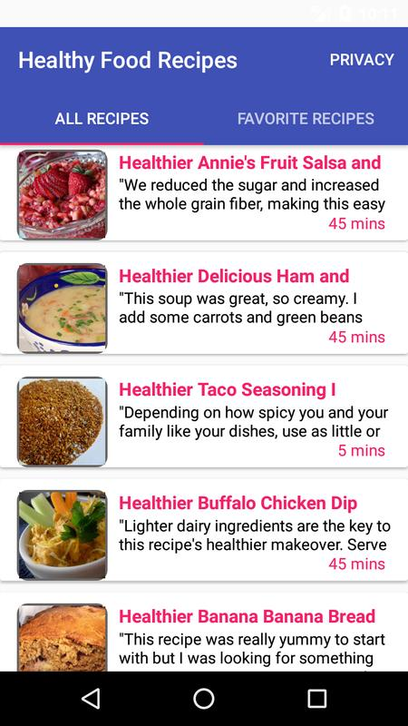 Healthy food recipesfree recipe app descarga apk gratis comer y healthy food recipesfree recipe app captura de pantalla de la apk forumfinder Gallery