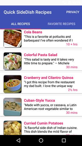 Quick SideDish Recipes for Android - APK Download