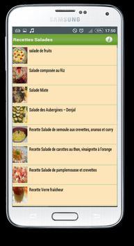 recettes salades faciles apk screenshot