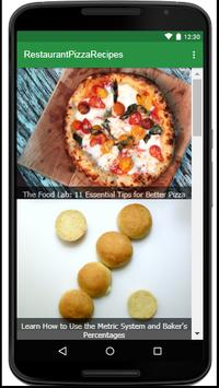 Restaurant Pizza Recipes screenshot 1
