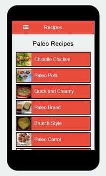 Recipes Paleo apk screenshot