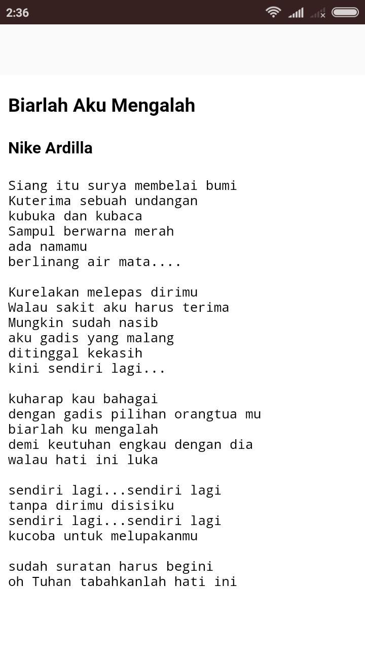 Lirik Lagu Nike Ardilla For Android Apk Download