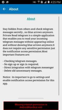 Private Read Teleg apk screenshot