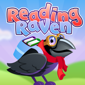 Reading Raven: Learn to read phonics adventure icon
