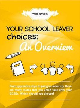 School Leavers Guide (SLG) poster