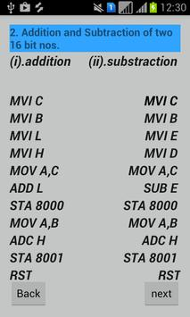 MicroProcessor 8085 Programs apk screenshot