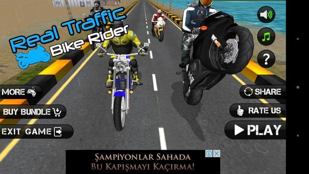 Real Traffic Bike Rider poster