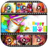 Happy Holi Video Maker icon