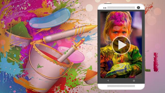 Happy Holi Video Maker poster