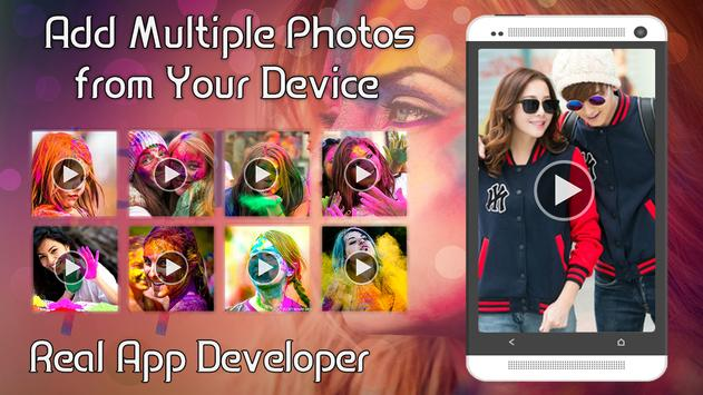 Happy Holi Video Maker apk screenshot