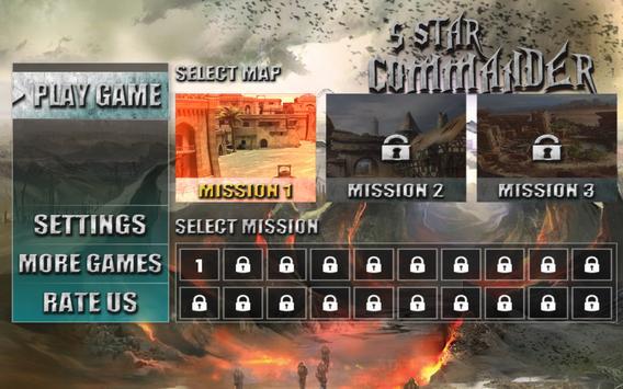 5 Star Commander FPS shooter apk screenshot