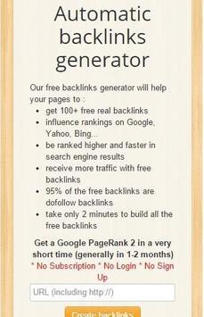 Real Free Backlinks screenshot 2