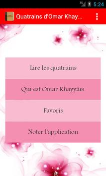 Quatrains d'Omar Khayyâm Demo apk screenshot