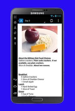 Military Diet Plan screenshot 1