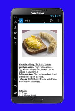 Military Diet Plan screenshot 2