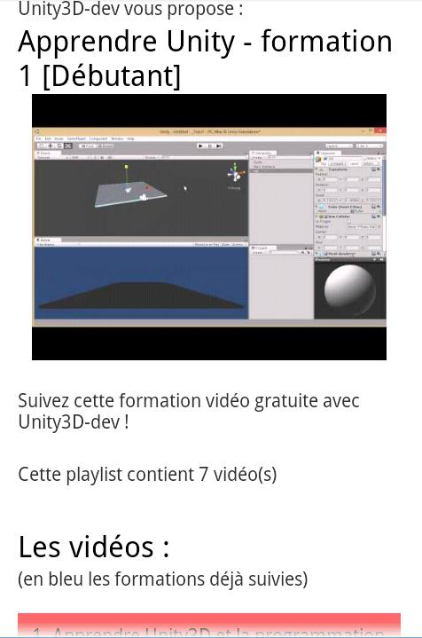Unity3D Tutoriels for Android - APK Download