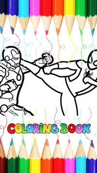 Superhero Spideo Coloring Games poster