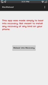 Recovery Reboot screenshot 1